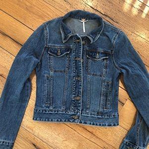 Free People jean jacket size XS